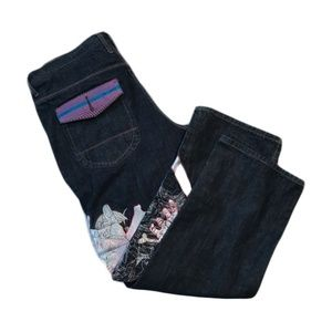 Class Player Men's Embroidered Jeans Size 38